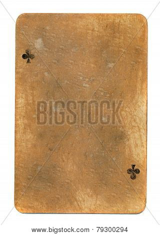 Old Used Rubbed Playing Card Paper Background