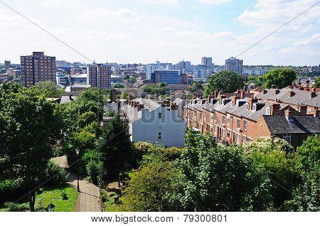 City rooftops, Nottingham.