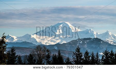 Mount Baker as seen from the Fraser Valley