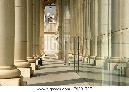 two colonnades