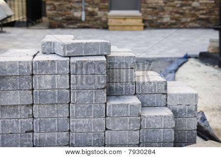 ineinander greifende Stein Auffahrt