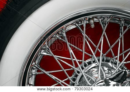 Vintage Car Spoke Wheel