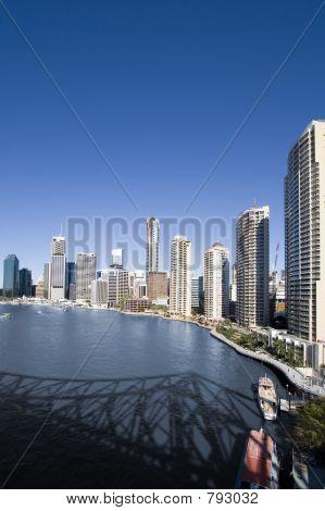 poster of portrait of city skyline