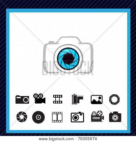 Camera icons - vector illustration