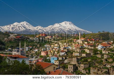 Small Town In The Turkish Province