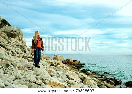 Girl On Sea