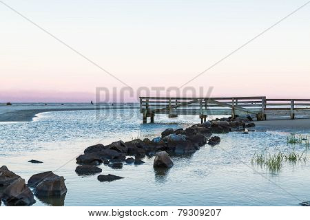 Stones And Old Wood Pier