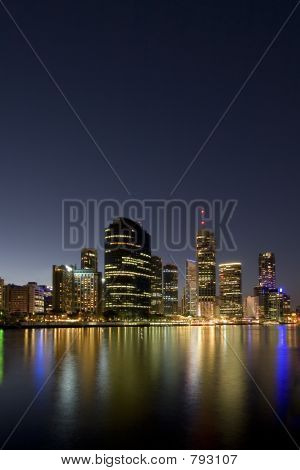 city skyline portrait at dusk
