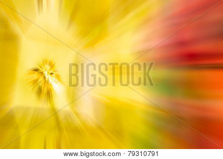 Yellow,gold Color Stripe Radial Motion Blur Abstract
