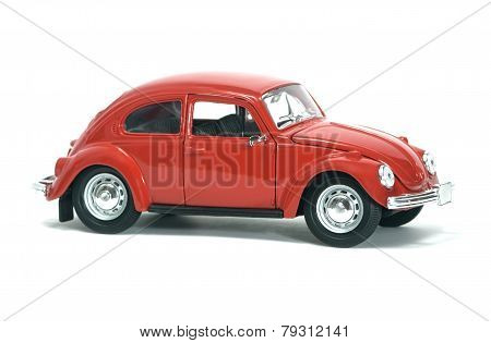 Red Car Vw Bug