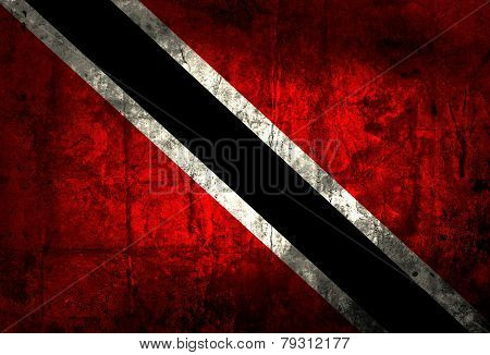 Grunge Trinidad and Tobago Flag
