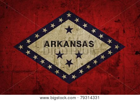 Grunge flag of Arkansas