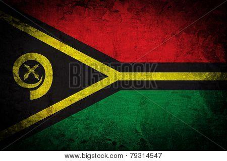 Grunge of Vanuatu Flag