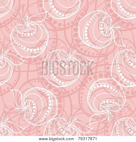 Pink Apple Pattern