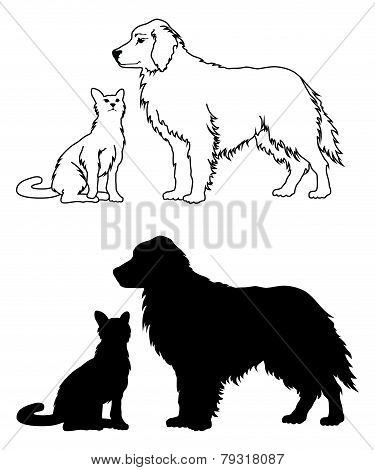 Dog and Cat Graphic Style