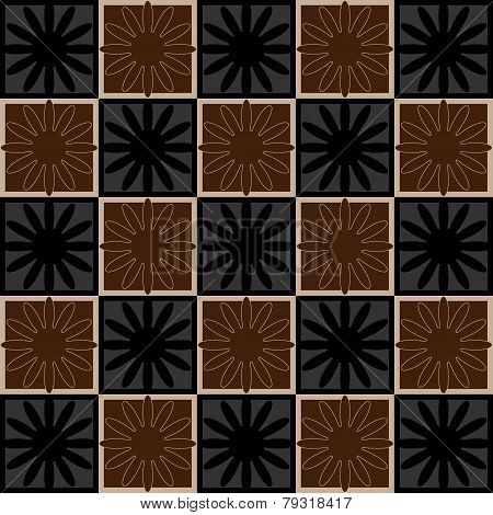 Squares seamless pattern brown colors