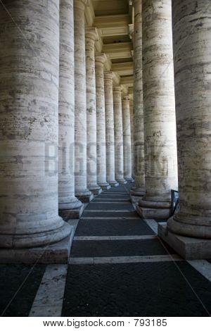 Travertine Columns