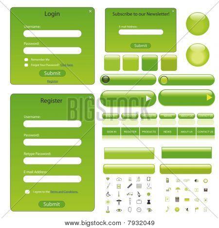 Web Template Green