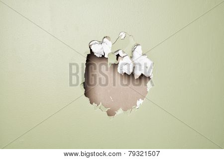 smash wall green background