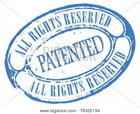 Patented retro vector stamp