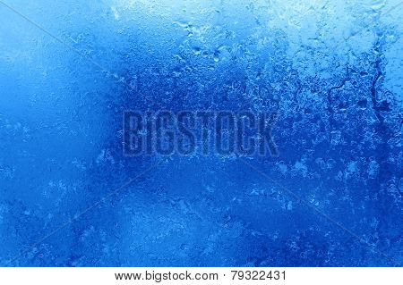 Blue moist abstract background