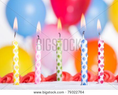 Birthday Candles Closeup