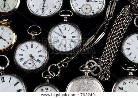 Cracked Silver Pocket Watch