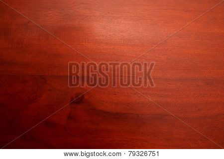 Mahogany wooden surface