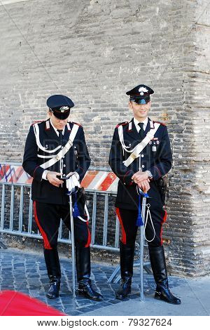 Vatican City Guard On May 30, 2014, Rome, Italy