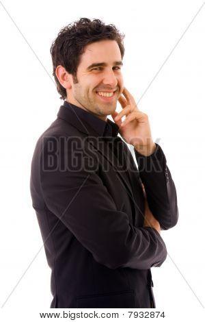 Homem de negócios jovem feliz