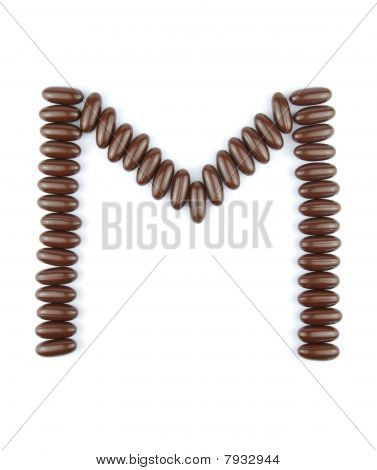 Chocolate Letter M