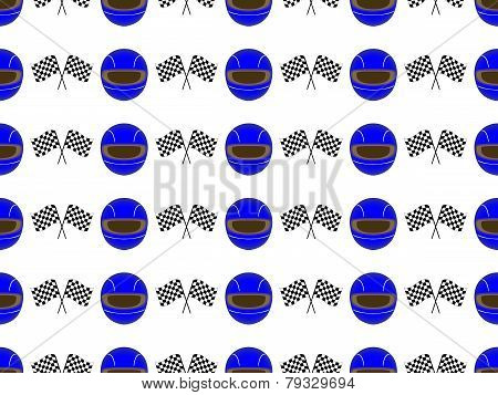 Racing Background Seamless Pattern 2 Blue