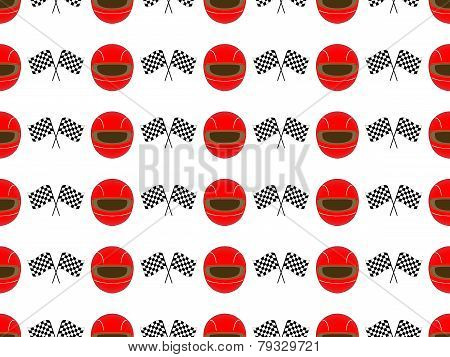 Racing Background Seamless Pattern 2 Red