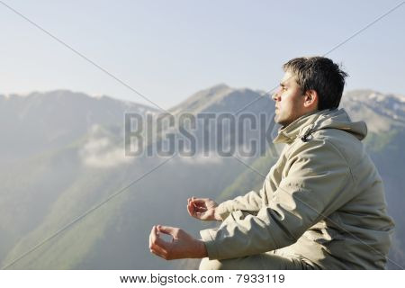 Fresh Sunrise At Mountain
