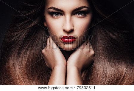 Woman With Long Healthy Hair