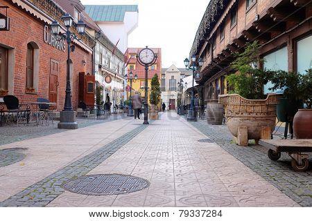 KLAIPEDA, LITHUANIA - November 17: Old-town of Klaipeda on November 17, 2014 Klaipeda, Lithuania.