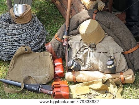 Necessaries Of Slodier From World War Ii