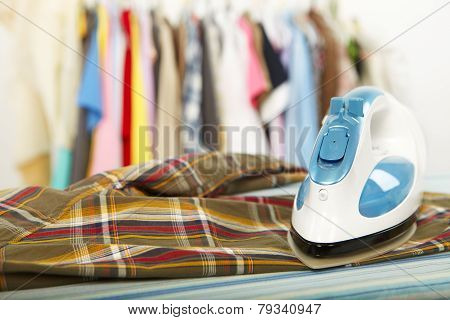Electric Iron And Shirt
