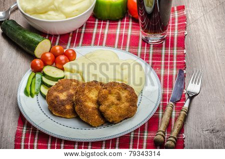 Minced Meat In Breadcrumbs