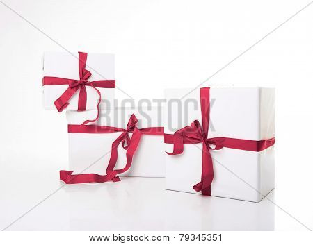 White Gift Box With Nice Ribbon