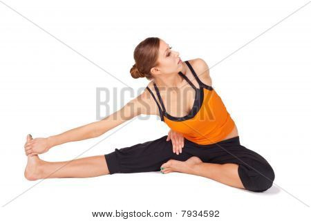 Woman Doing Yoga Relaxing Exercise