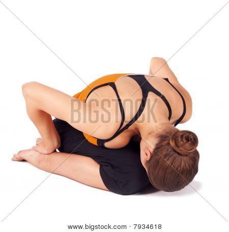 Fit Woman Practicing Yoga Asana