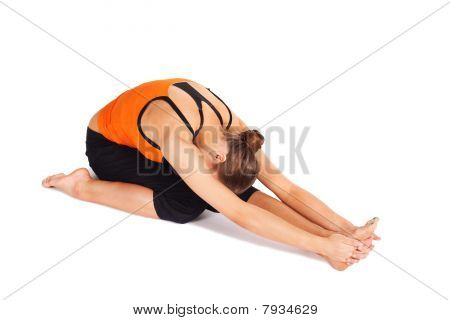 Fit Young Woman Practicing Yoga Asana