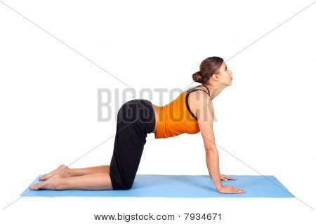 Woman Practicing Yoga Asana