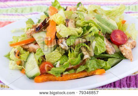 oasted chicken california salad