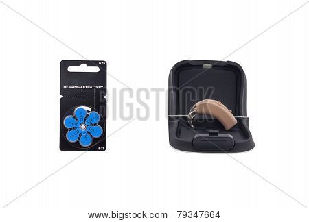 Hearing Aid With Batteries