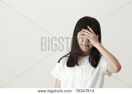 chinese girl not feeling well, high fever