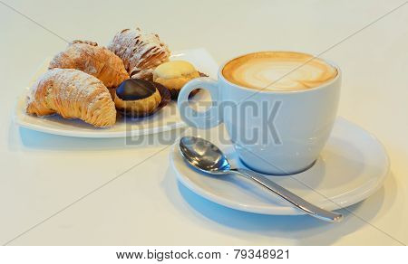 Capuccino And Pastries