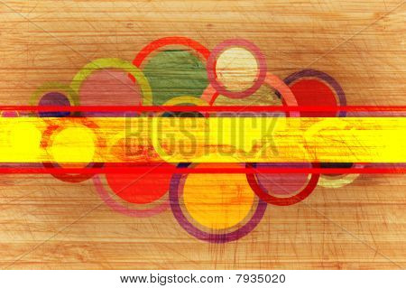Abstract Background With  Circles And Rings.