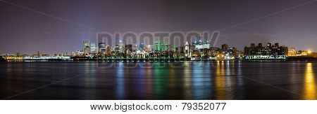 Night time panorama of downtown Montreal